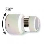 Embout boyau gris pivotant à 360