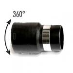 Embout boyau noir pivotant à 360