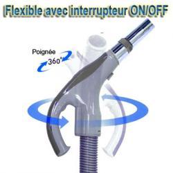 Flexible aspiration avec interrupteur de 12 m Universel Convient à toutes marques