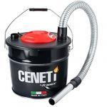 Bidon vide cendres CENETI à moteur électrique 800W, 15L pour aspirer les cendres froides des cheminées, des poêles à bois ou à granulés