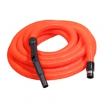 Flexible aspiration centralisee garage orange de 17 m