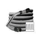 Flexible aspiration centralisée standard gris de 4 mètres