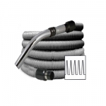 Flexible aspiration centralisée standard gris de 5 mètres
