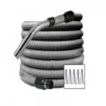 Flexible aspiration centralisee standard gris de 12 metres