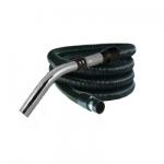 Flexible aspiration centralisée standard noir et silver de 4 mètres