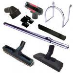 Kit 8 accessoires avec tube télescopique Chromé
