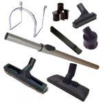Kit 8 accessoires pour centrales (1 Support mural, 1 Brosse combinée, 1 Brosse sol dur 300 mm, 1 Canne télescopique + 1 sac de 4 accessoires)