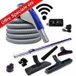 Set 7 accessoires + 1 flexible RETRAFLEX 18,30 m avec poignée à bouton marche/arrêt télécommande intégrée 915 Mhz RETRAFLEX et HIDE-A-HOSE (Émetteur-récepteur)