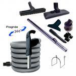 Set 8 accessoires + 1 flexible 15 m premium Plastiflex avec bouton marche/arrêt