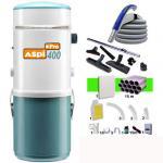 Aspiration centralisée Aspi-pro 400 garantie 5 ans + Set 12 m RETRAFLEX + 7 accessoires + kit 1 prise RETRAFLEX nouvelle génération, 20% plus petit que le premier modèle! (rayon d'action 120 m2)