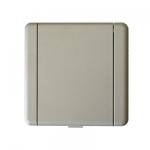 Prise métal Europe carrée gris primaire à peindre