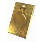 prise métal porte ronde dorée
