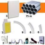 Kit 3 prises RETRAFLEX blanches avec tuyaux pour flexible de 15m et 18m