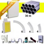 Kit 2 prises RETRAFLEX blanches nouvelle génération, 20% plus petit que le premier modèle!avec tuyaux pour flexible de 9m et 12m