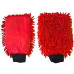 Gant microfibre rouge 2 en 1